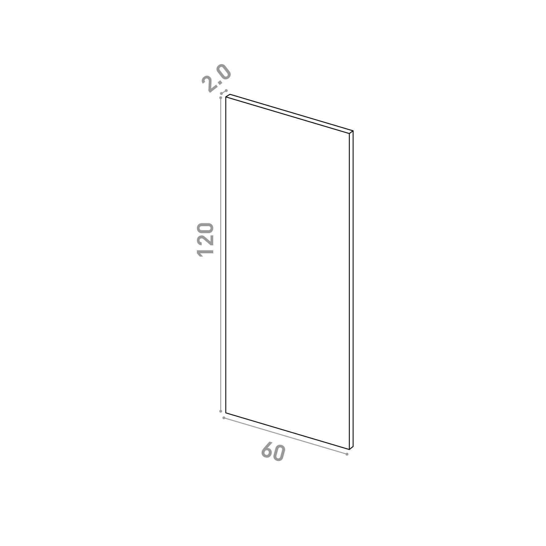 Porte 60X120cm   design lisse   noyer naturel