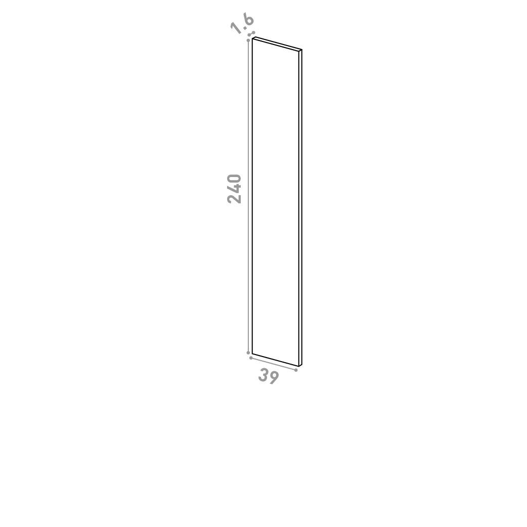 Panneau de finition 39X240cm   design lisse   chêne naturel