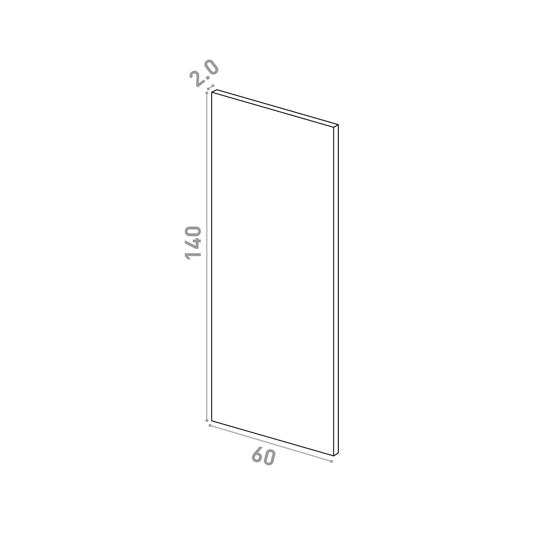 Porte 60X140cm   design lisse   noyer naturel
