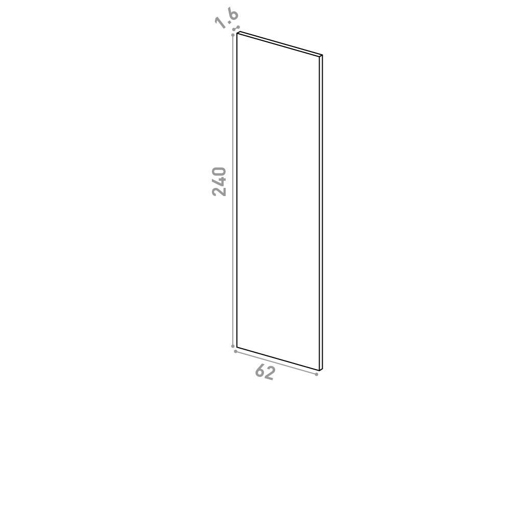 Panneau de finition 62X240cm   design lisse   chêne naturel
