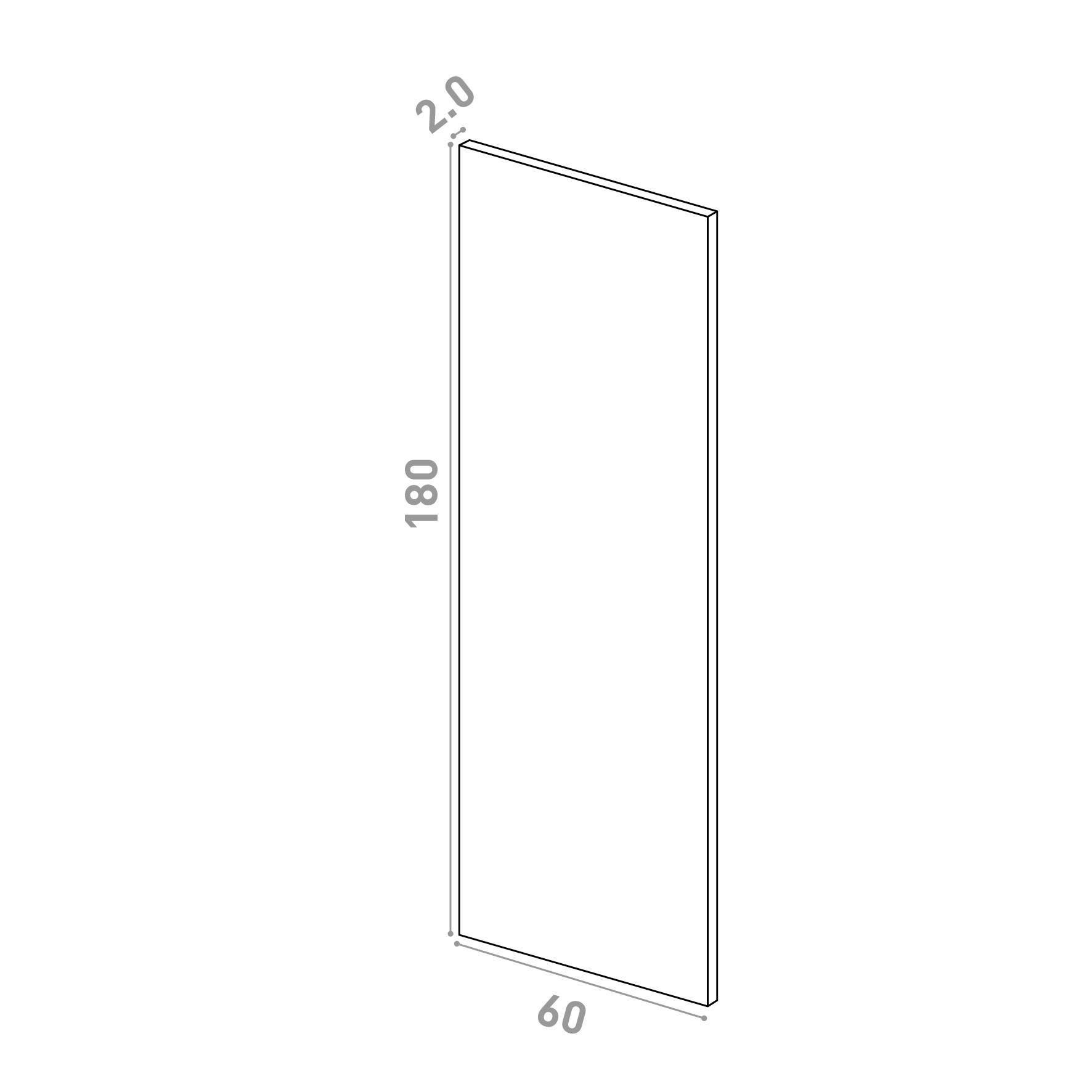 Porte 60X180cm   design lisse   noyer naturel