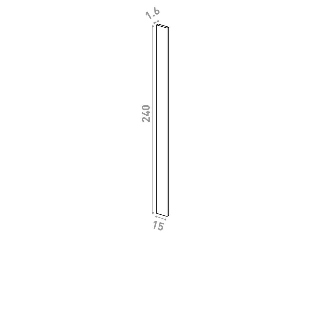 Panneau de finition 15x240cm   design lisse   chêne naturel